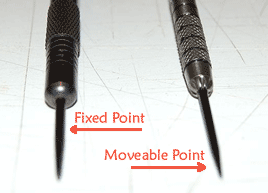 Fixed and moveable dart points